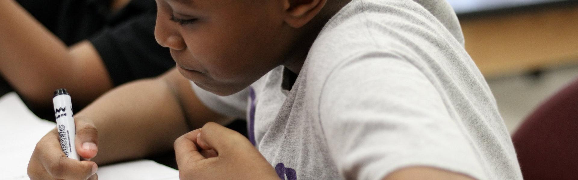 kid writting