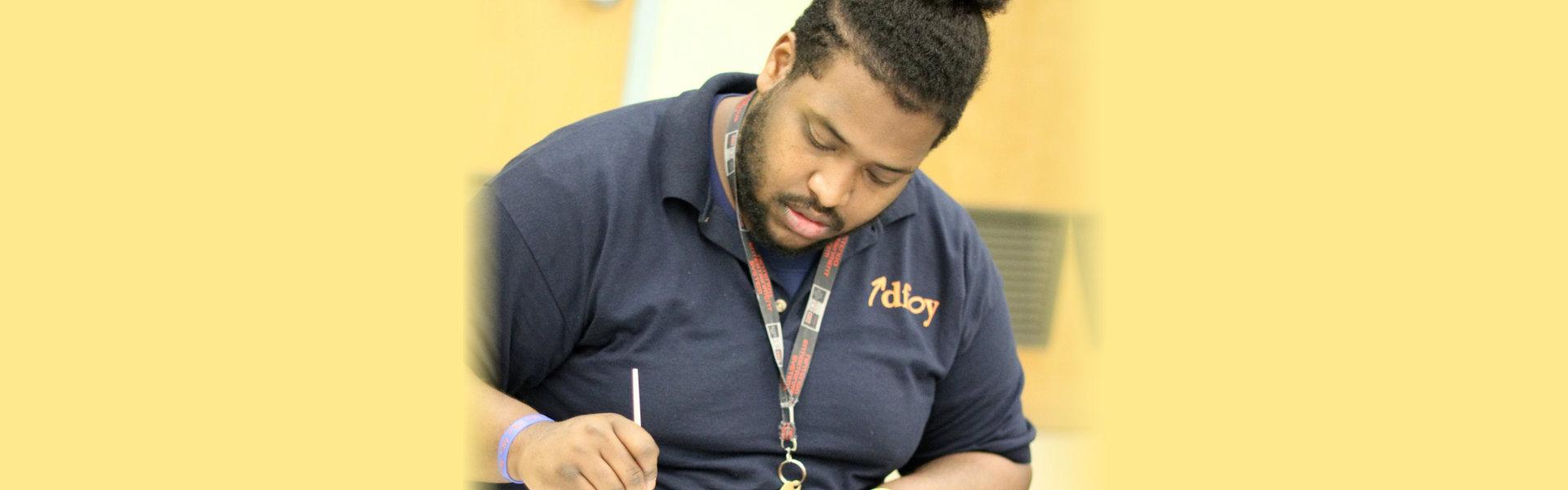 guy writting
