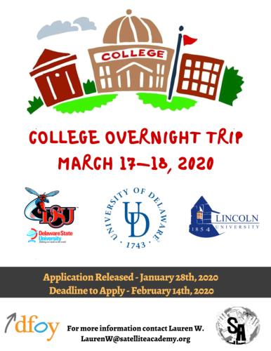 HBCU Trip 2020 flyer